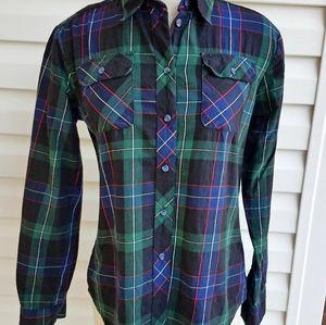 BDG Tartan Plaid Flannel Shirt Medium